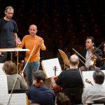 Ensayo General con la Orquesta Nacional de España preparando el estreno de Ahimsa